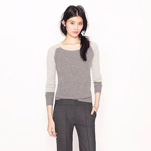 J Crew cashmere color block knit thermal sweater